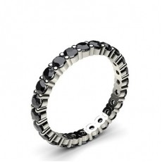Memoire Schwarze Diamant Ring in Krappenfassung