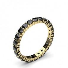 Gelbgold Schwarze Diamantringe