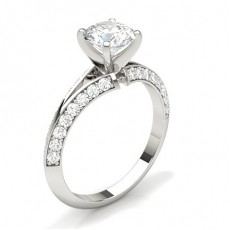 Krappenfassung mit Brilliant Schulter Diamanten  - CLRN512_01