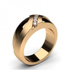 Bague homme diamant rond serti rail en 0.13ct - HG0604_31