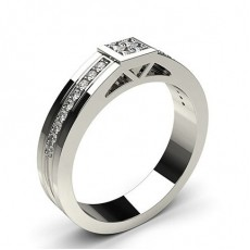 Round Men's Diamond Rings