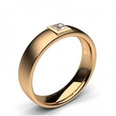 Princess Rose Gold Men's Diamond Rings