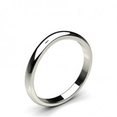 2.00mm Low Dome Profile Plain Shaped Wedding Band - CLRN523_02