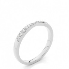Studded Flat Profile Diamond Shaped Band - CLRN524_01