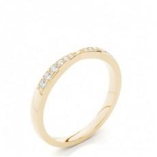 Studded Flat Profile Diamond Shaped Band - HG0601_20