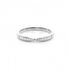 Studded Flat Profile Diamond Shaped Band