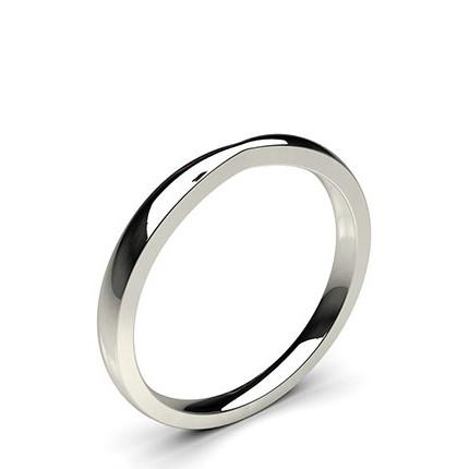 Schlichter Ehering mit einem flachen Profil