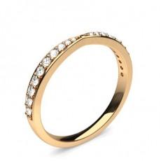 Alliance diamant en profil plat clouté rond serti pavé 2.2mm - CLRN524_03