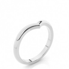 2.20mm Flat Profile Plain Shaped Wedding Band