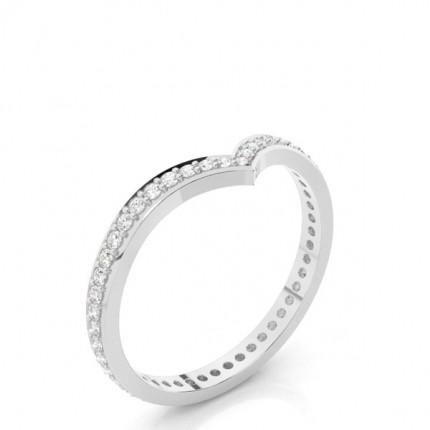 Gespickt Leichte Passform Diamant Hochzeits Band