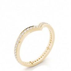 Alliance courbée profil plat diamant rond serti pavé 2.2mm - CLRN525_03