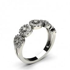 Bague fantaisie diamant rond serti pavé en 0.10ct