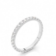 4 Prong Setting Full Eternity Diamond Ring (Available from 1.30mm to 3.00mm )