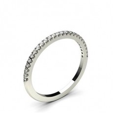 4 Prong Setting Half Eternity Diamond Ring - HG0648_23