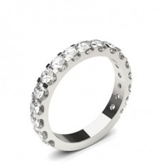 Round Platinum Diamond Eternity Rings