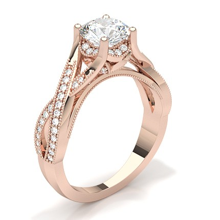 Shop Online For Studded Engagement Ring With 4 Prong Setting Diamonds Factory Uk