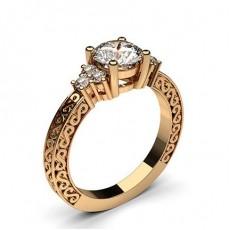 Rose Gold Vintage Diamond Engagement Ring - CLRN564_07