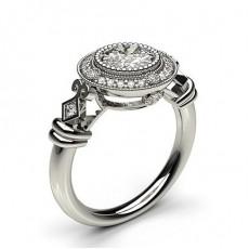 White Gold Diamond Engagement Ring - CLRN564_08