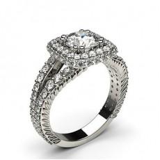 4 Krappen Schlichter Diamant Verlobungs Ring - CLRN564_10