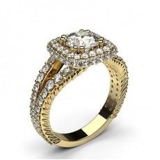 Yellow Gold Vintage Diamond Engagement Ring - CLRN564_10