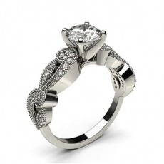 White Gold Vintage Diamond Engagement Ring - CLRN564_11