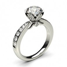 Prong Setting Studded Engagement Ring  - CLRN564_12