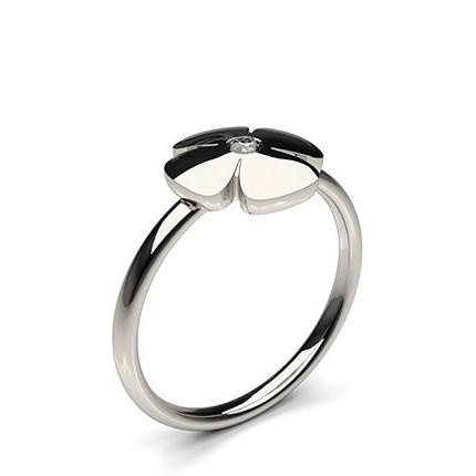 0.05ct. Full Bezel Setting Round Diamond Delicate Ring