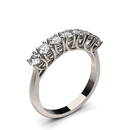 Bague 7 pierres diamant rond serti 4 griffes