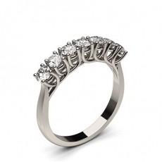 Bague 7 pierres diamant rond serti 4 griffes - CLRN574_01