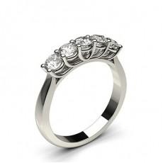 Bague 5 pierres diamant rond serti 4 griffes - CLRN576_01