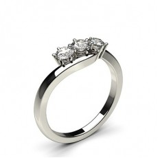 6 Prong Setting Plain Three Stone Ring - CLRN579_01