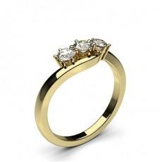 3 Diamanten Ring einfach in einer 6 Krappenfassung  - CLRN579_01