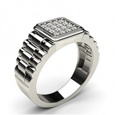 Prong Setting Round Diamond Mens Ring - CLRN581_02