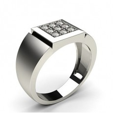 Pave Setting Round Diamond Mens Ring - CLRN581_03