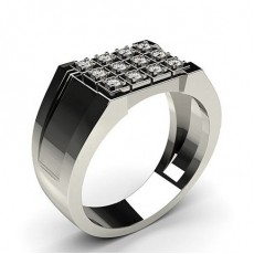 Platinum Men's Diamonds Rings
