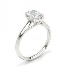 White Gold Emerald Diamond Engagement Ring - CLRN582_01