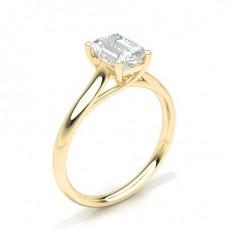 White Gold Emerald Diamond Engagement Ring - CLRN582_01