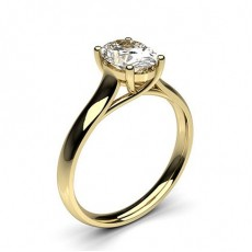 4 Prong Setting Plain Engagement Ring - CLRN582_02
