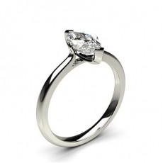 2 Prong Setting Plain Engagement Ring - CLRN583_01