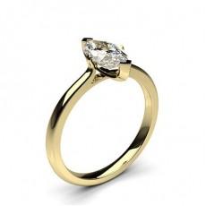 Bague de fiançailles solitaire diamant marquise serti 2 griffes - CLRN583_01