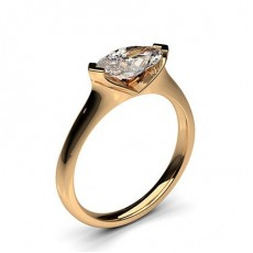 2 Prong Setting Plain Engagement Ring - CLRN586 _01