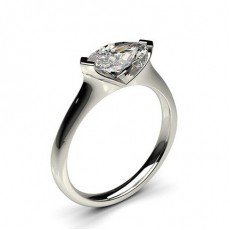 2 Prong Setting Plain Engagement Ring - CLRN586 _01