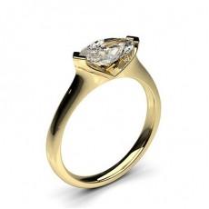 Bague de fiançailles solitaire diamant marquise serti 2 griffes - CLRN586 _01