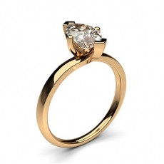 4 Prong Setting Plain Engagement Ring - CLRN587_01