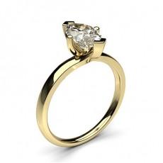 Bague de fiançailles solitaire diamant marquise serti 4 griffes - CLRN587_01