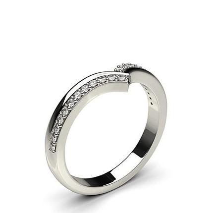 2.30mm Studded Flat Profile Diamond Shaped Band