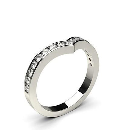 Diamant Band geformt mit einem Flachen Profil