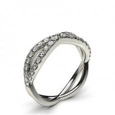 Rond Prêts à livrer Diamant Bagues