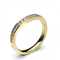Round Yellow Gold Woman Shaped Bands