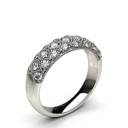 Runder Diamant Mode Ring in einer Pave Fassung